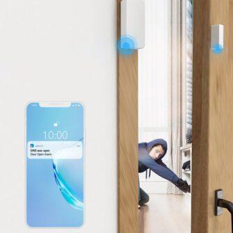 Sonoff DW2 RF juhtmevaba ukse või akna andur sensor 433 MHz RF valge M0802070003 16