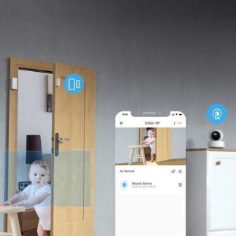 Sonoff DW2 RF juhtmevaba ukse või akna andur sensor 433 MHz RF valge M0802070003 8