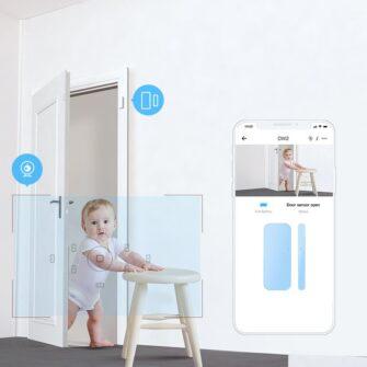 Sonoff DW2 Wi Fi juhtmevaba ukse või akna andur sensor valge M0802070002 10