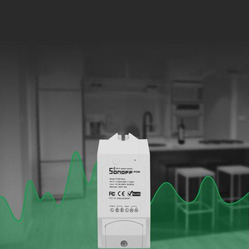 Sonoff POW R2 WiFi juhtmevaba lüliti energiatarbimise mõõtjaga valge IM171130001 4