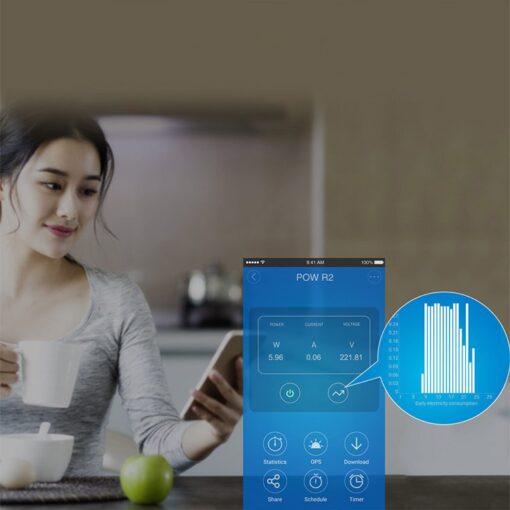 Sonoff POW R2 WiFi juhtmevaba lüliti energiatarbimise mõõtjaga valge IM171130001 5