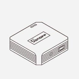 Sonoff RF Bridge kontroller 433 MHz RF anduritele must IM170619001 10
