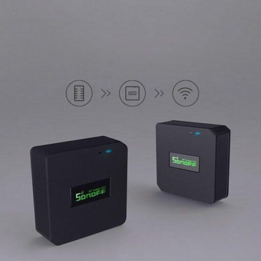 Sonoff RF Bridge kontroller 433 MHz RF anduritele must IM170619001 4