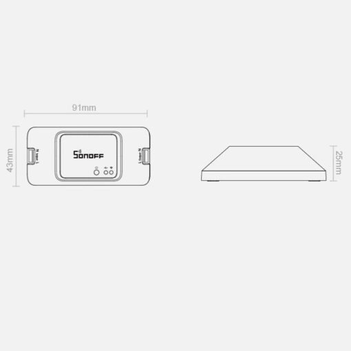 Sonoff RFR3 DIY juhtmevaba nutikas lüliti WiFiga 433 MHz RF valge IM190314002 4
