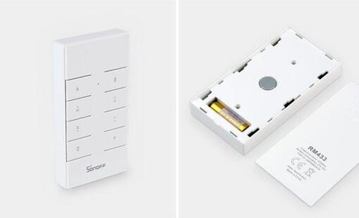 Sonoff RM433 patareiga juhtmevaba kaugjuhtimispult 433 MHz valge IM190314042 9