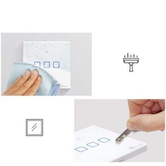 Sonoff T0EU1C TX puutetundlik seinalüliti WiFiga juhtmevaba valge IM190314009 12