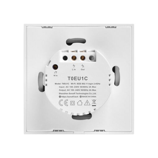 Sonoff T0EU1C TX puutetundlik seinalüliti WiFiga juhtmevaba valge IM190314009 3