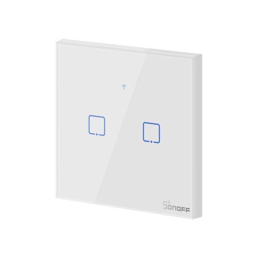 Sonoff T0EU2C TX kahe kanaliga puutetundlik seinalüliti WiFiga juhtmevaba valge IM190314010 3