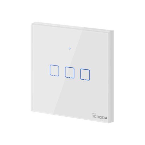 Sonoff T0EU3C TX kolme kanaliga puutetundlik seinalüliti WiFiga juhtmevaba valge IM190314011 3