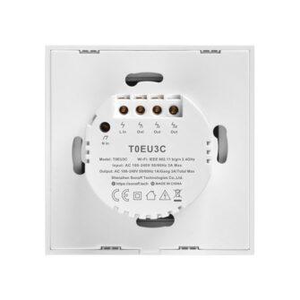 Sonoff T0EU3C TX kolme kanaliga puutetundlik seinalüliti WiFiga juhtmevaba valge IM190314011 4
