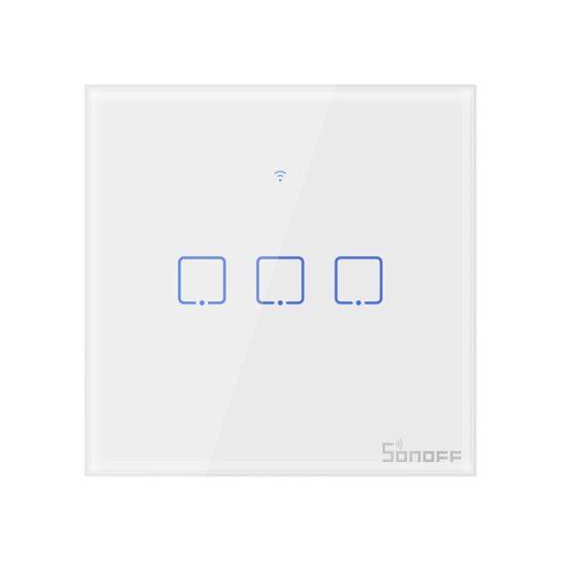 Sonoff T0EU3C TX kolme kanaliga puutetundlik seinalüliti WiFiga juhtmevaba valge IM190314011