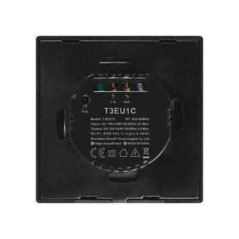 Sonoff T3EU1C TX puutetundlik seinalüliti WiFiga juhtmevaba RF 433 MHz must IM190314018 1