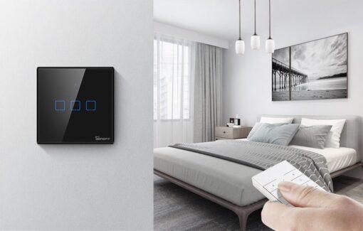 Sonoff T3EU3C TX kolme kanaliga puutetundlik seinalüliti WiFiga juhtmevaba RF 433 MHz must IM190314020 6