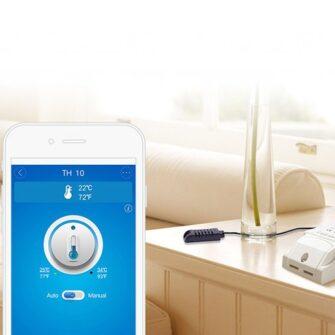 Sonoff TH16 WiFiga tark lüliti temperatuuri ja õhuniiskuse anduriga valge IM160712002 11