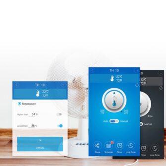 Sonoff TH16 WiFiga tark lüliti temperatuuri ja õhuniiskuse anduriga valge IM160712002 15