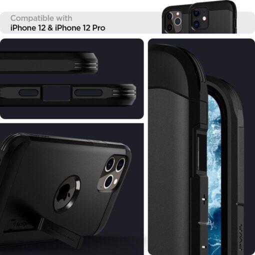 Spigen Tough Armor ümbris iPhone 12 ja iPhone 12 Pro must 8