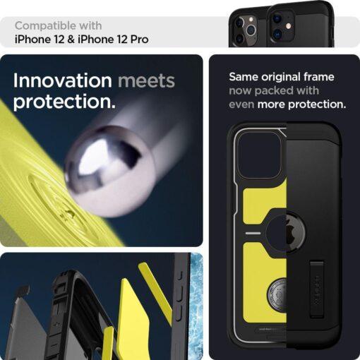 Spigen Tough Armor ümbris iPhone 12 ja iPhone 12 Pro must 9