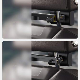 Telefonihoidik auto peatugedele juhtmevaba laadimisega 15W Qi must WXHZ 01 18