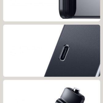 Telefonihoidik auto peatugedele juhtmevaba laadimisega 15W Qi must WXHZ 01 19