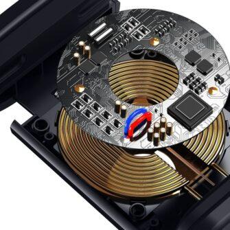 Telefonihoidik auto peatugedele juhtmevaba laadimisega 15W Qi must WXHZ 01 8