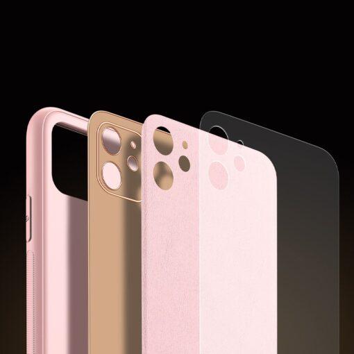 iPhone 11 ümbris YOLO kunstnahast ja silikoonist servadega roosa 6