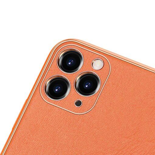 iPhone 11 Pro ümbris YOLO kunstnahast ja silikoonist servadega oranž 2