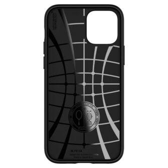 iPhone 12 12 Pro ümbris Spigen Core Armor silikoonist must 1