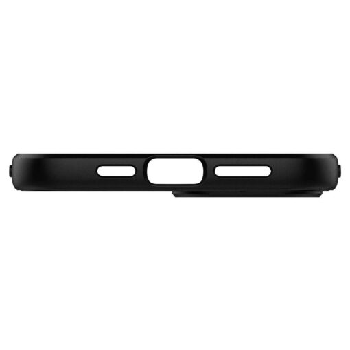 iPhone 12 12 Pro ümbris Spigen Core Armor silikoonist must 4