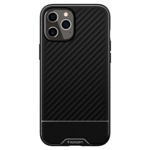 iPhone 12 12 Pro ümbris Spigen Core Armor silikoonist must