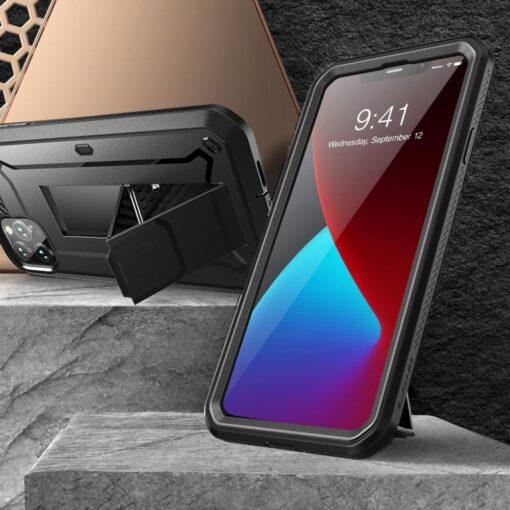iPhone 12 12 Pro ümbris Supcase Unicorn Beetle Pro silikoonist must 2