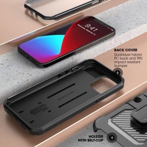 iPhone 12 12 Pro ümbris Supcase Unicorn Beetle Pro silikoonist must 3