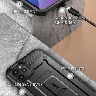 iPhone 12 12 Pro ümbris Supcase Unicorn Beetle Pro silikoonist must 5