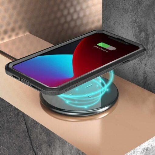 iPhone 12 12 Pro ümbris Supcase Unicorn Beetle Pro silikoonist must 6