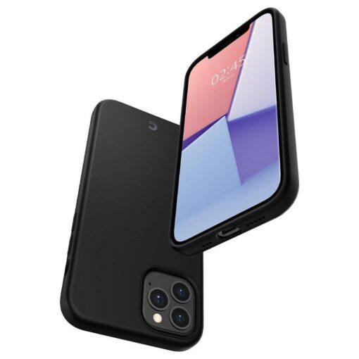 iPhone 12 12 Pro Spigen Cyrill ümbris silikoonist must 5