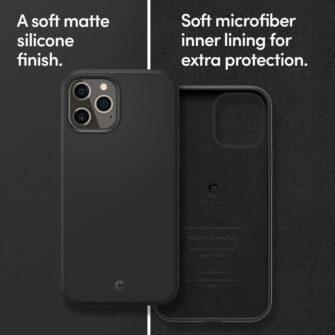 iPhone 12 12 Pro Spigen Cyrill ümbris silikoonist must 8
