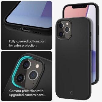 iPhone 12 12 Pro Spigen Cyrill ümbris silikoonist must 9