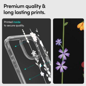 iPhone 12 12 Pro Spigen Cyrill Cecile ümbris silikoonist Flower Garden 6