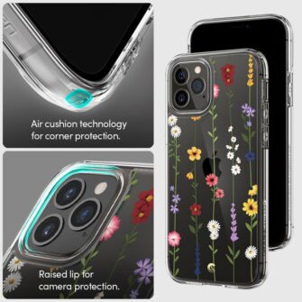 iPhone 12 12 Pro Spigen Cyrill Cecile ümbris silikoonist Flower Garden 7