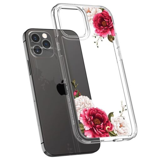 iPhone 12 12 Pro Spigen Cyrill Cecile ümbris silikoonist Red Floral 4