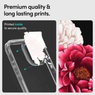 iPhone 12 12 Pro Spigen Cyrill Cecile ümbris silikoonist Red Floral 6