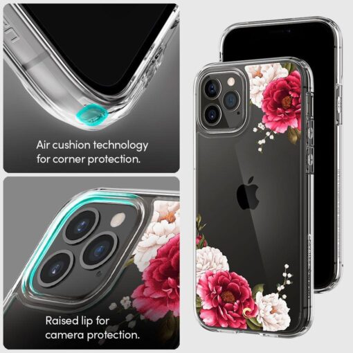 iPhone 12 12 Pro Spigen Cyrill Cecile ümbris silikoonist Red Floral 7