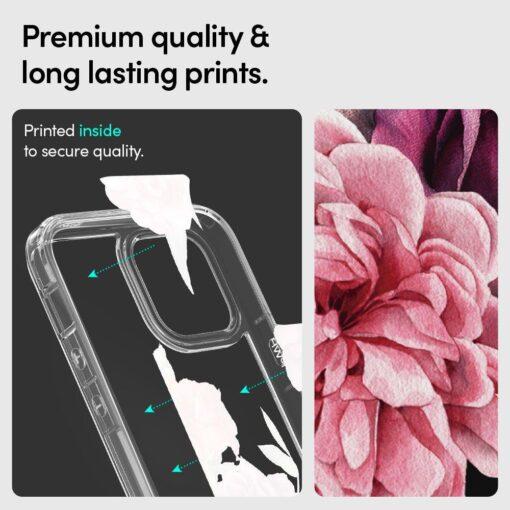 iPhone 12 12 Pro Spigen Cyrill Cecile ümbris silikoonist Rose Floral 6
