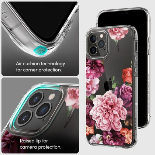 iPhone 12 12 Pro Spigen Cyrill Cecile ümbris silikoonist Rose Floral 7