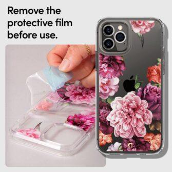 iPhone 12 12 Pro Spigen Cyrill Cecile ümbris silikoonist Rose Floral 8