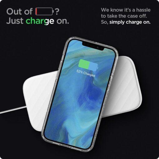 iPhone 12 12 Pro Spigen Liquid Crystal ümbris silikoonist sädelev 10