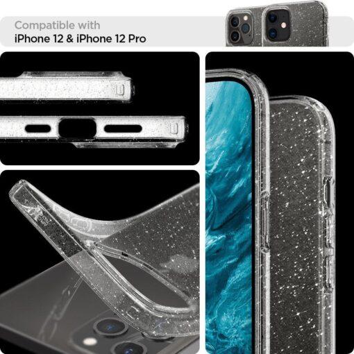 iPhone 12 12 Pro Spigen Liquid Crystal ümbris silikoonist sädelev 7