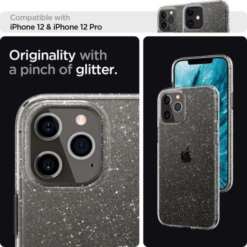 iPhone 12 12 Pro Spigen Liquid Crystal ümbris silikoonist sädelev 8
