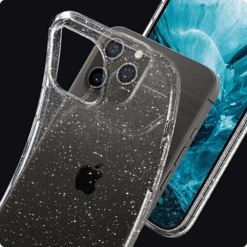 iPhone 12 12 Pro Spigen Liquid Crystal ümbris silikoonist sädelev 9