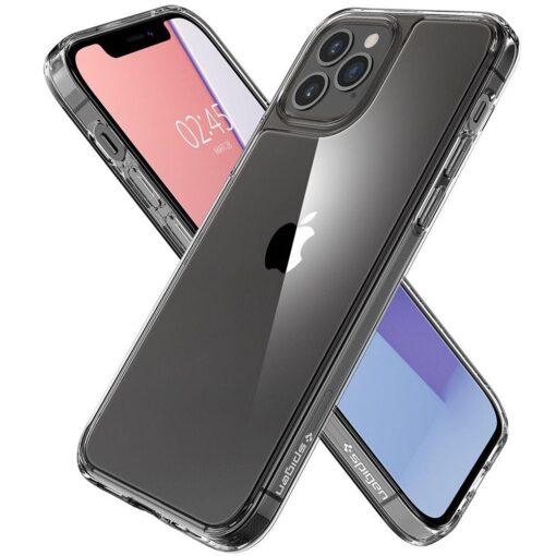 iPhone 12 12 Pro Spigen Quartz Hybrid ümbris silikoonist crystal clear 1