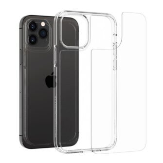 iPhone 12 12 Pro Spigen Quartz Hybrid ümbris silikoonist crystal clear 2